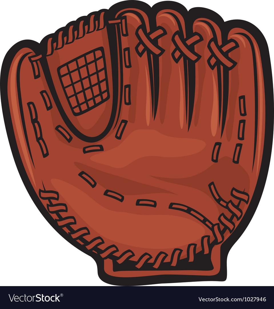 baseball glove royalty free vector image vectorstock rh vectorstock com baseball glove clip art free baseball glove clipart images