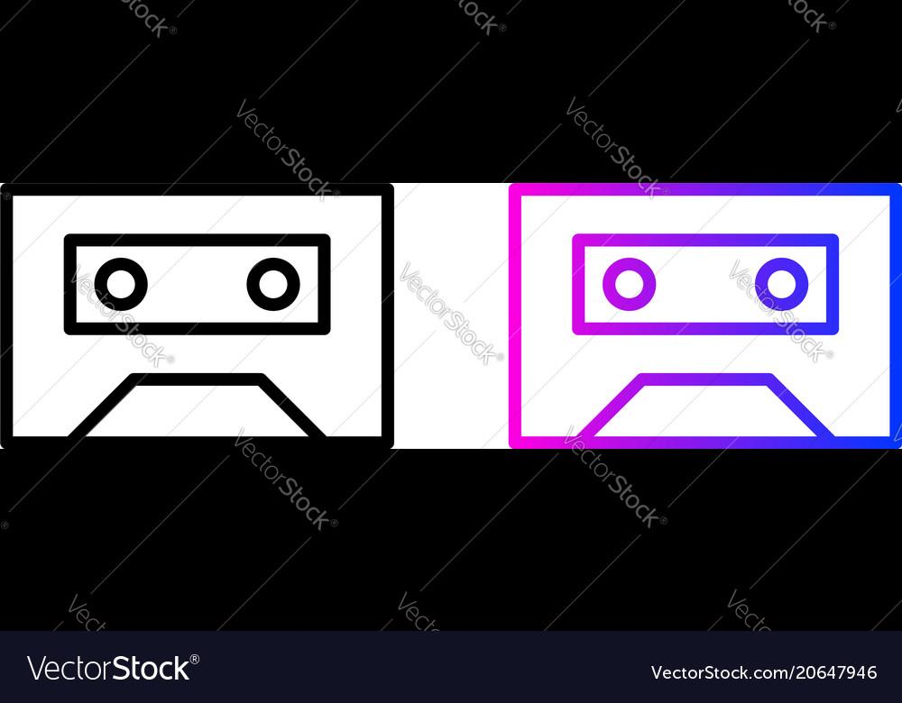 Cassette line icon vector image
