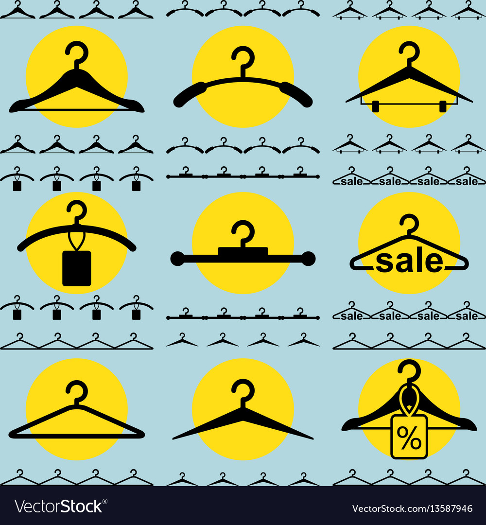 Clothes hanger icon for fashion or sale design vector image