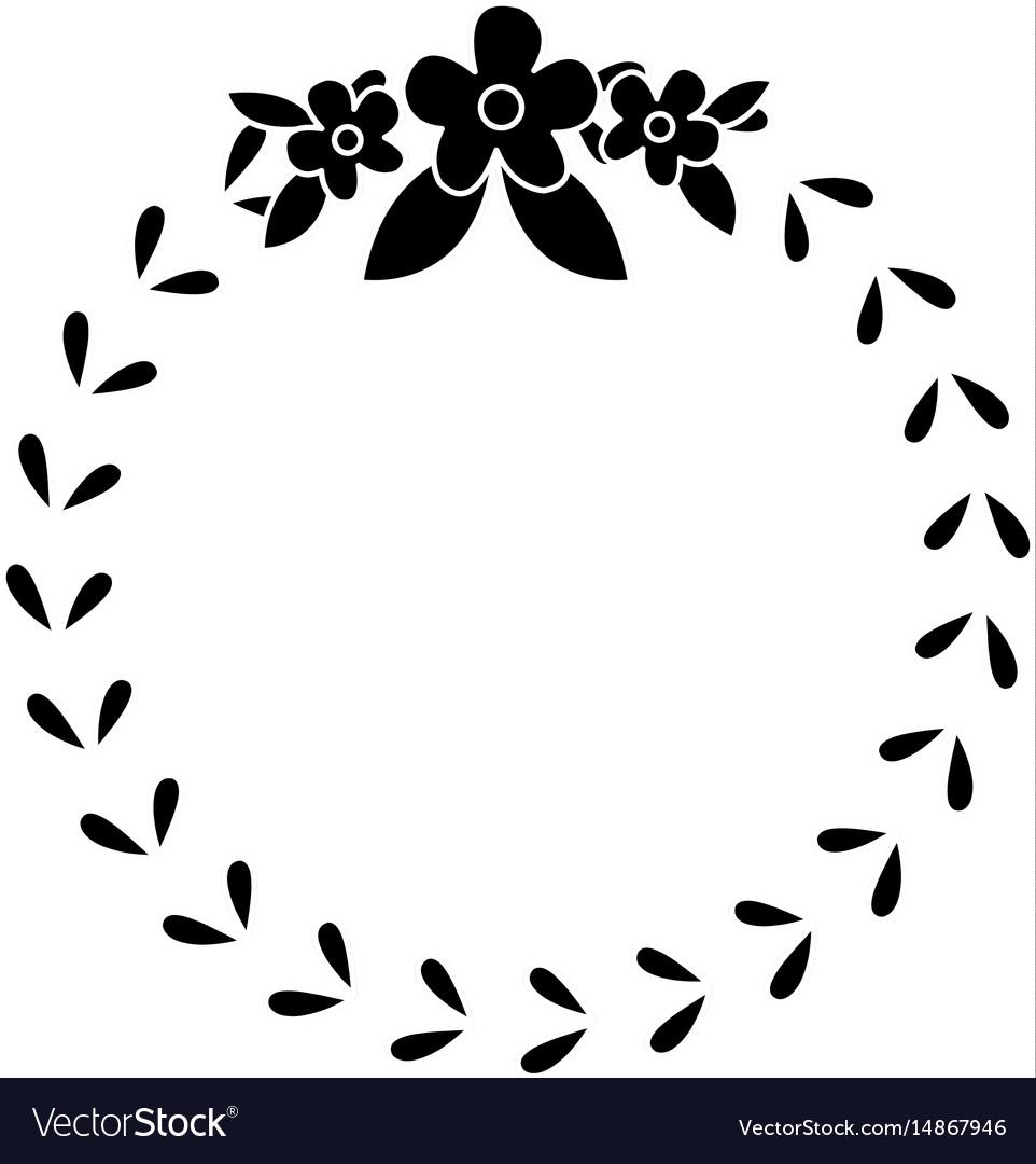 Floral crown wreath emblem decoration pictogram