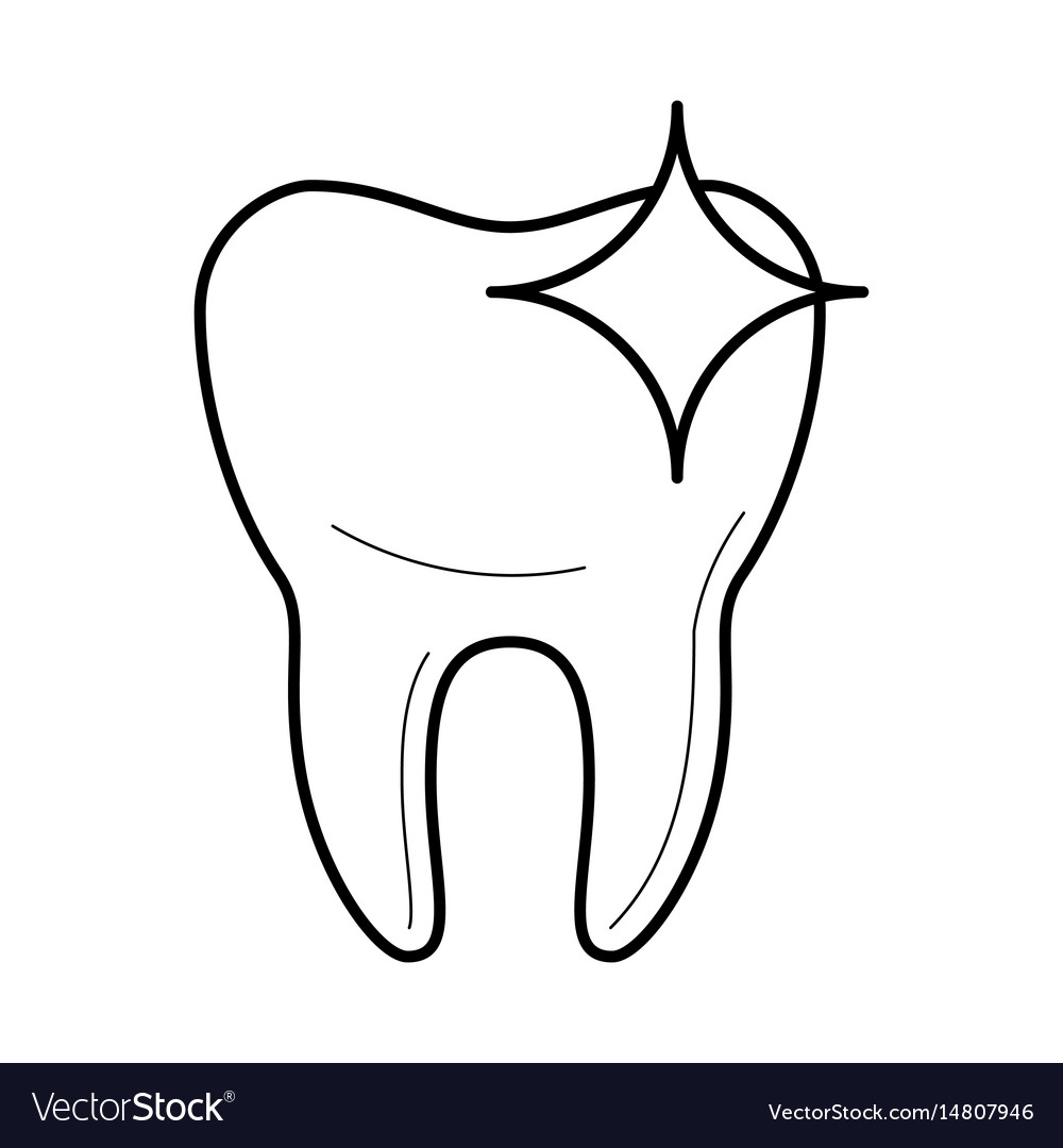 Healthy clean tooth icon vector image