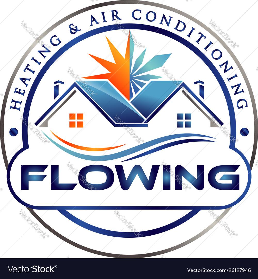 Home air conditioner logo symbol icon