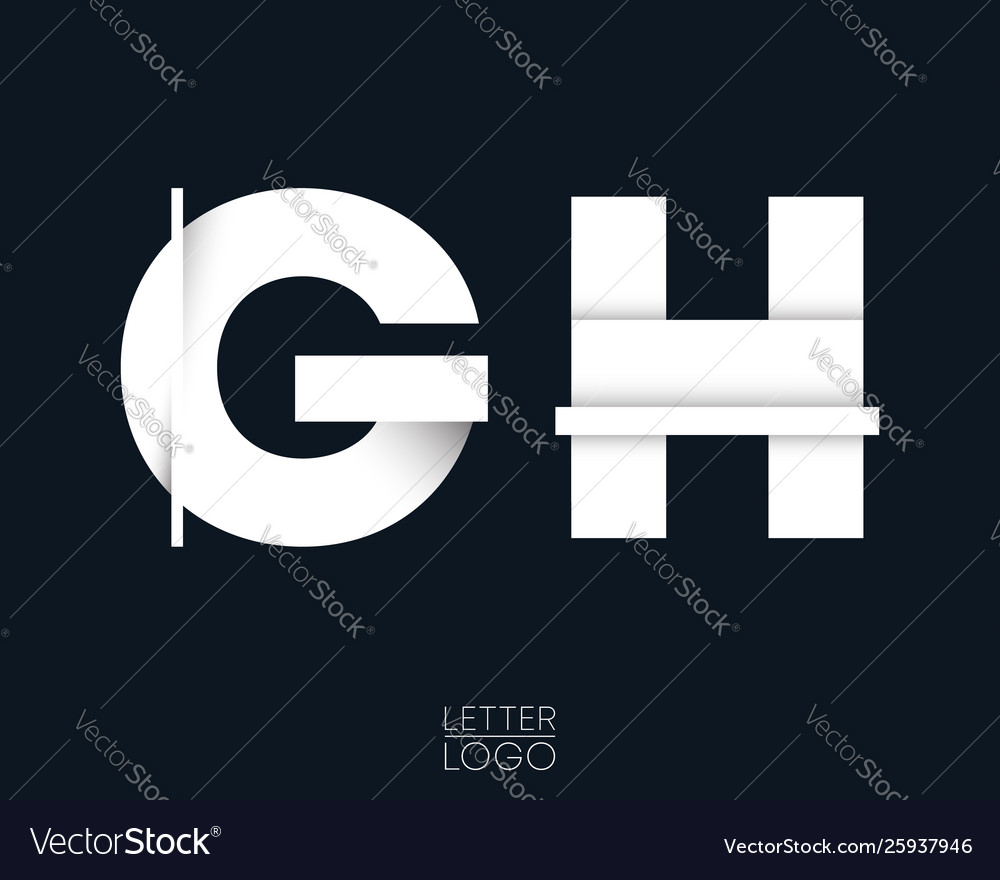 Letter g and h template logo design