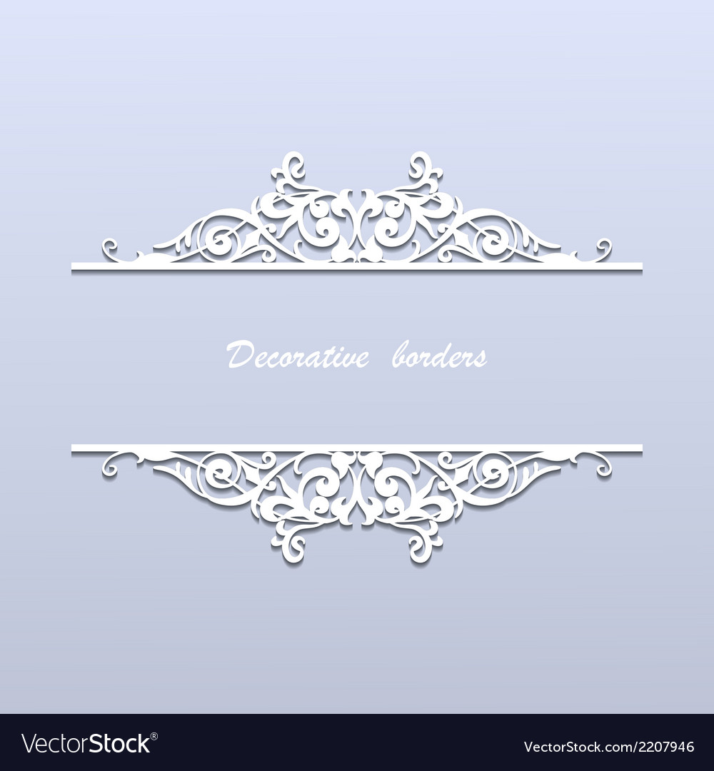 Paper borders with lace ornament