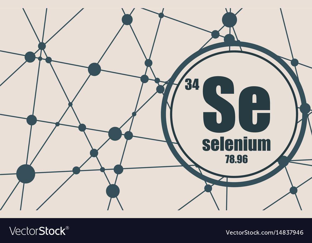 Selenium Chemical Element Royalty Free Vector Image