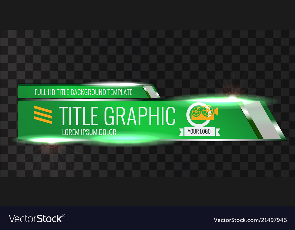 Video Headline Title Or Lower Third Template Vector Image
