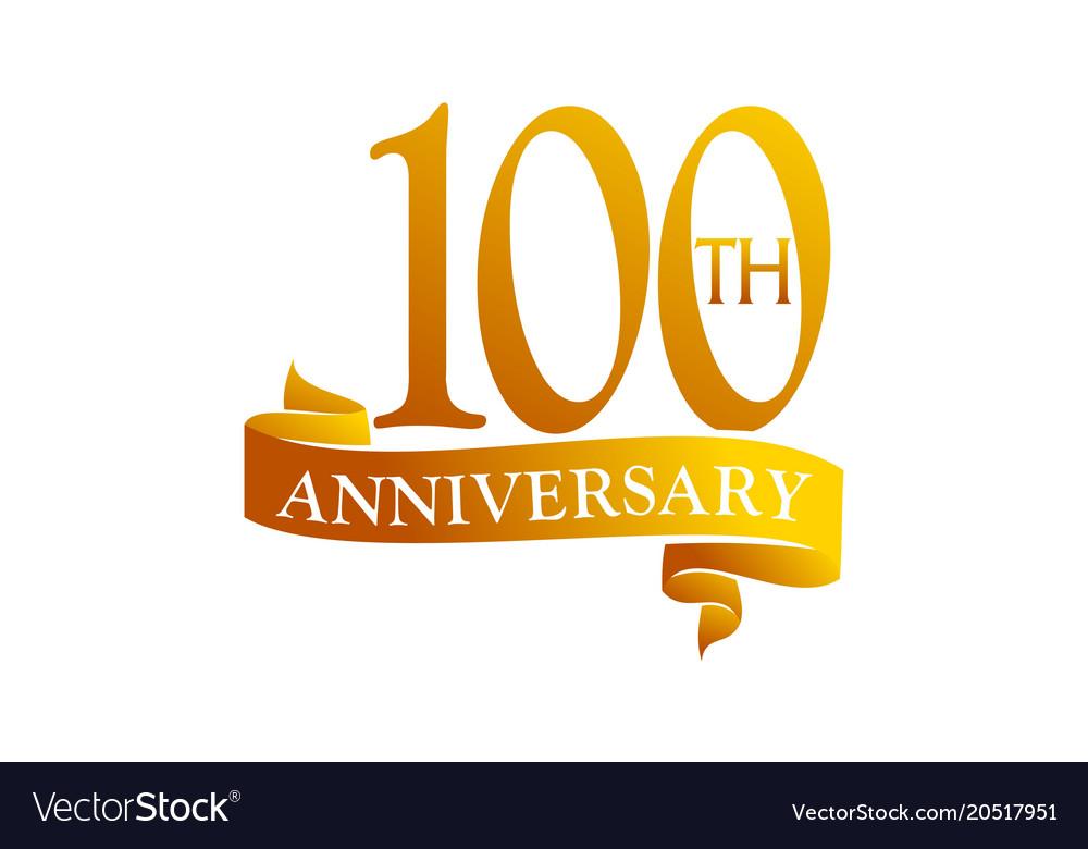 100 year ribbon anniversary