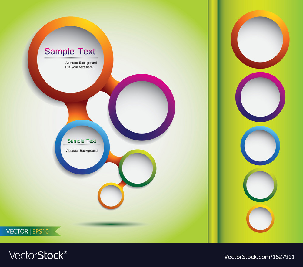 Abstract web bubble design vector image