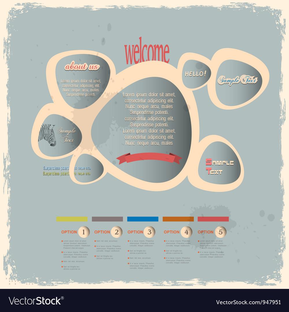 Creative web design bubbles in vintage style vector image
