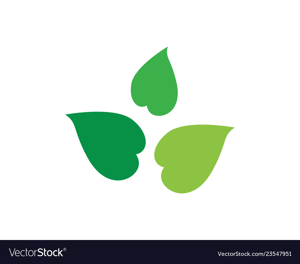Green leaf ecology nature element icon