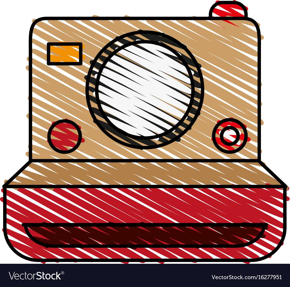 Retro photo camera icon