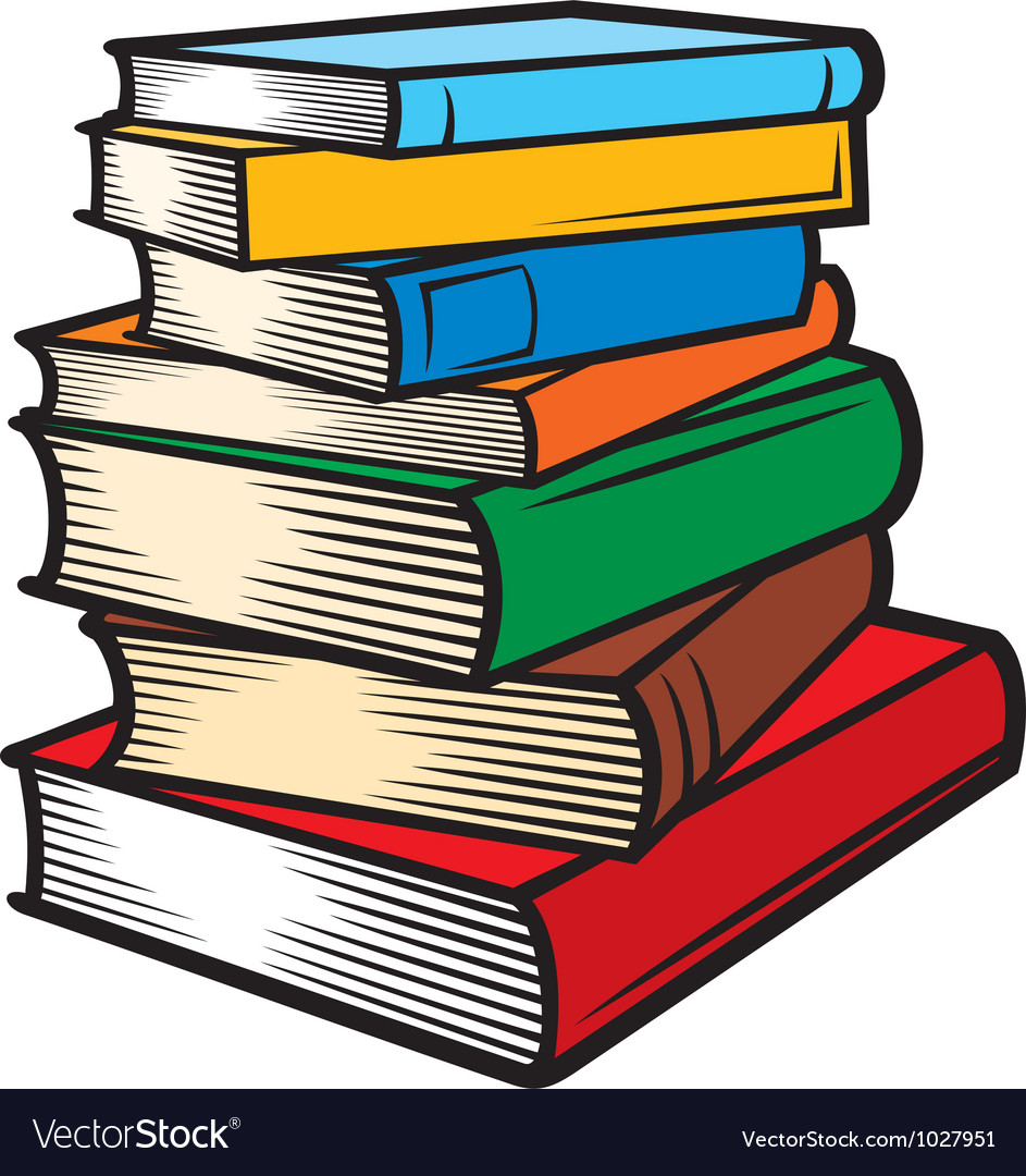 Stack of books Royalty Free Vector Image - VectorStock