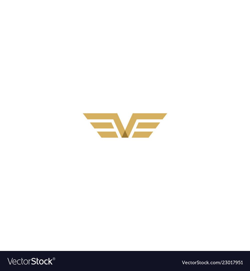 Wing v initial logo