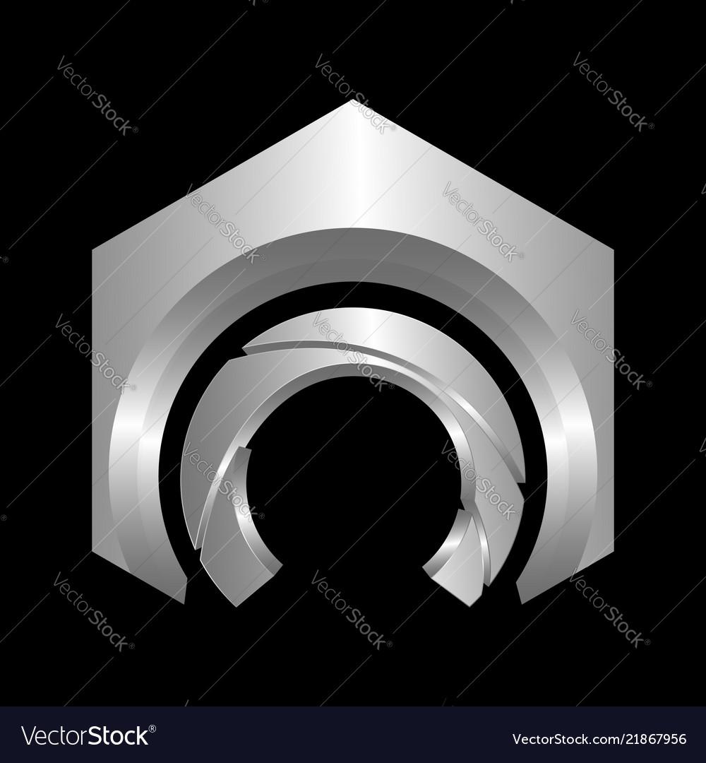 C letter logo hexagon shape letter c business