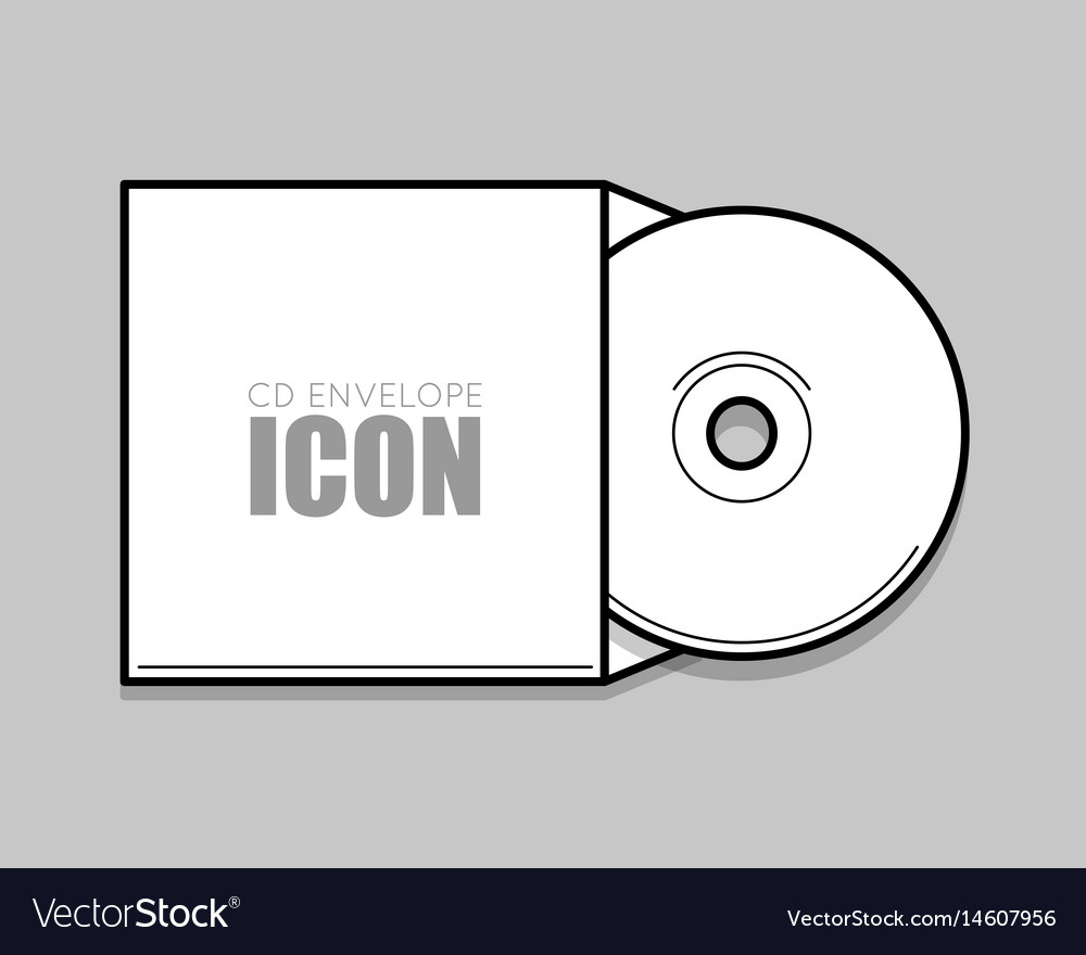 Cd Cover Template Dwd Royalty Free Vector Image