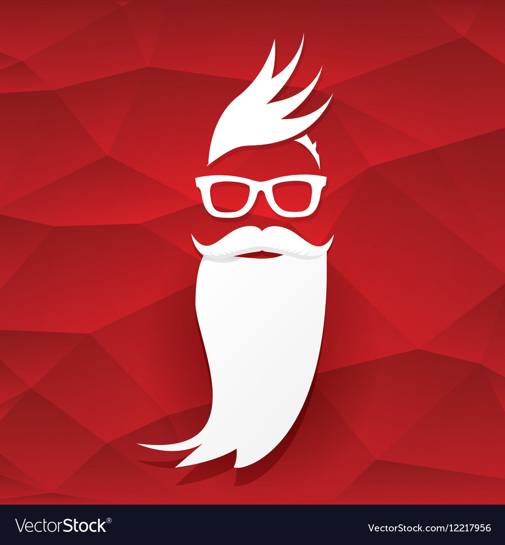 Christmas hipster santa claus greeting card vector image m4hsunfo