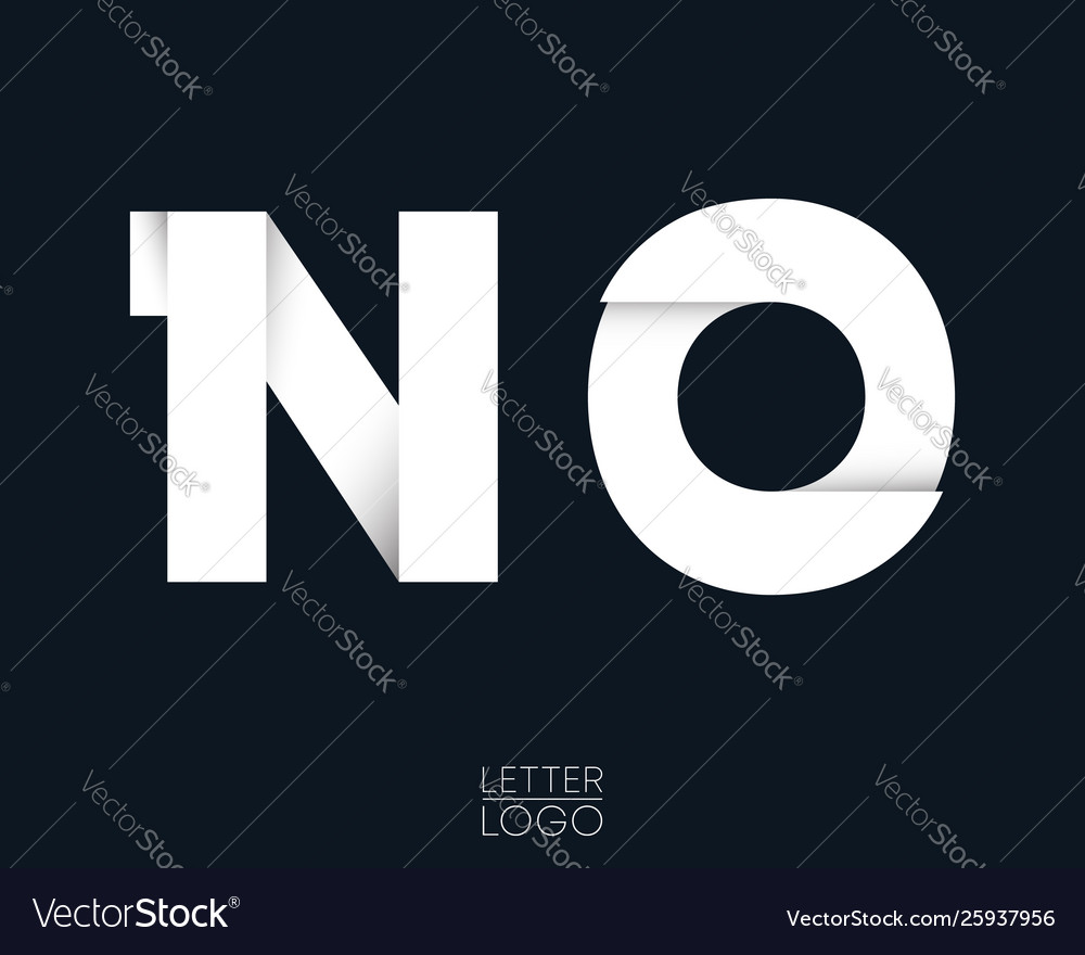 Letter n and o template logo design