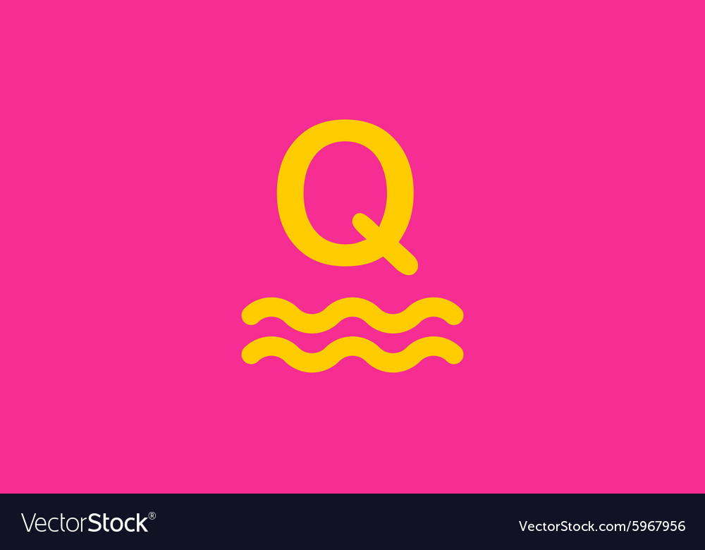 Templated | Q Letter Logo Icon Templated Royalty Free Vector Image