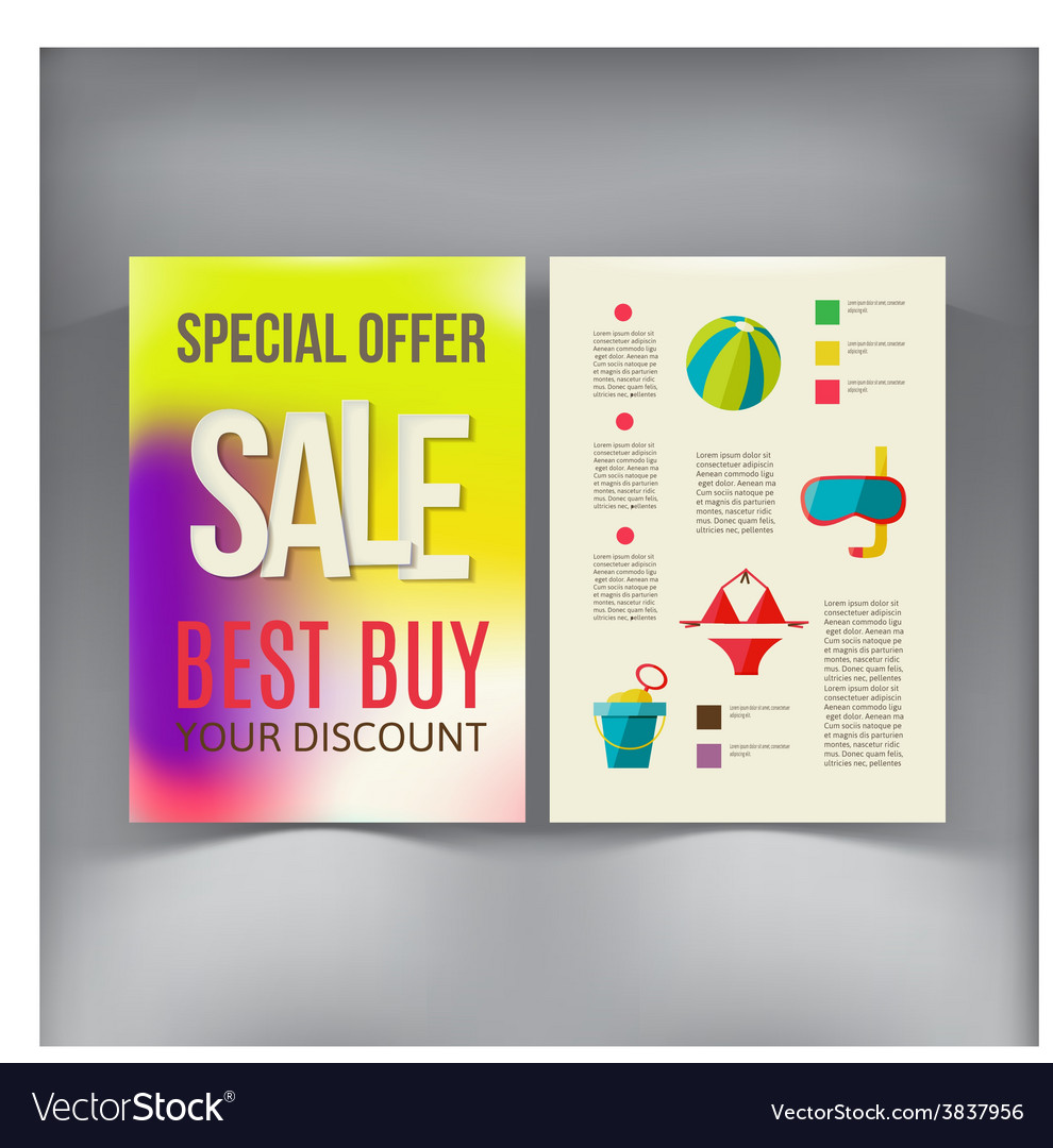 sale brochure flyer design template royalty free vector