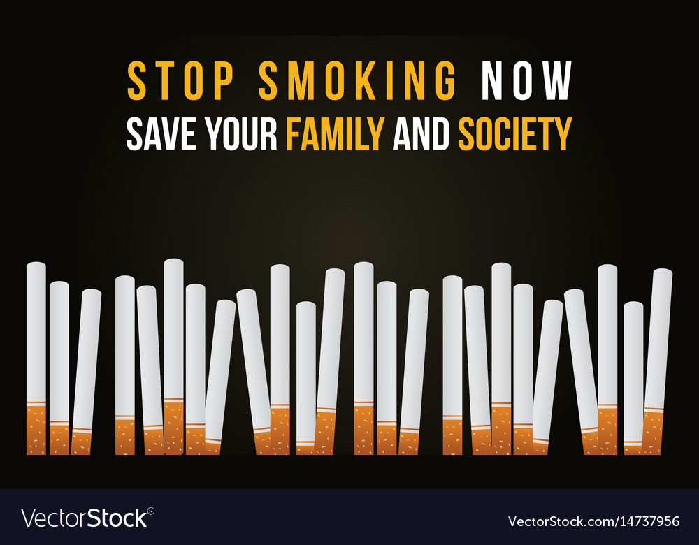 Stop Smoking Banner No Tobacco Day Collection Vector Image