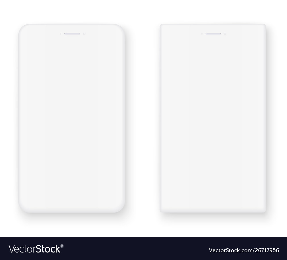 White smart phone mockup front view