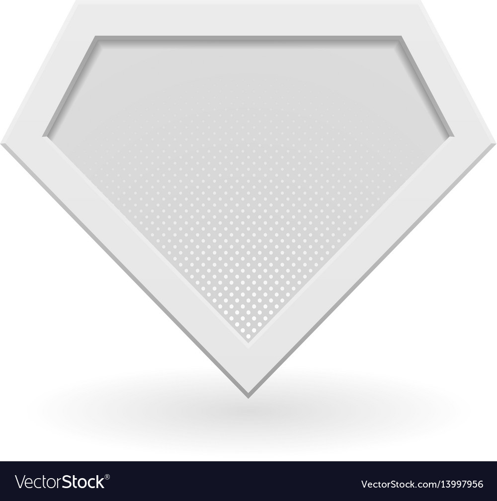 white superhero logo template royalty free vector image