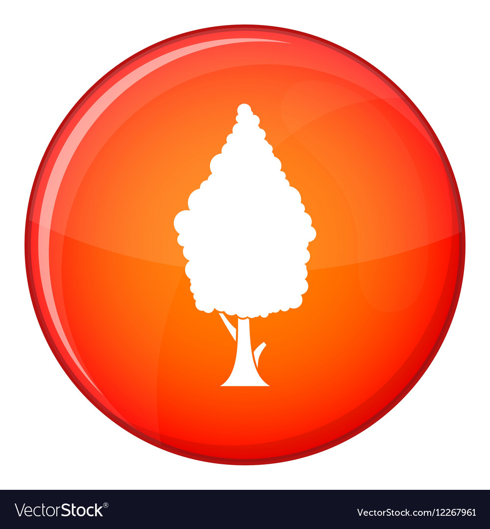 Cypress icon flat style vector image