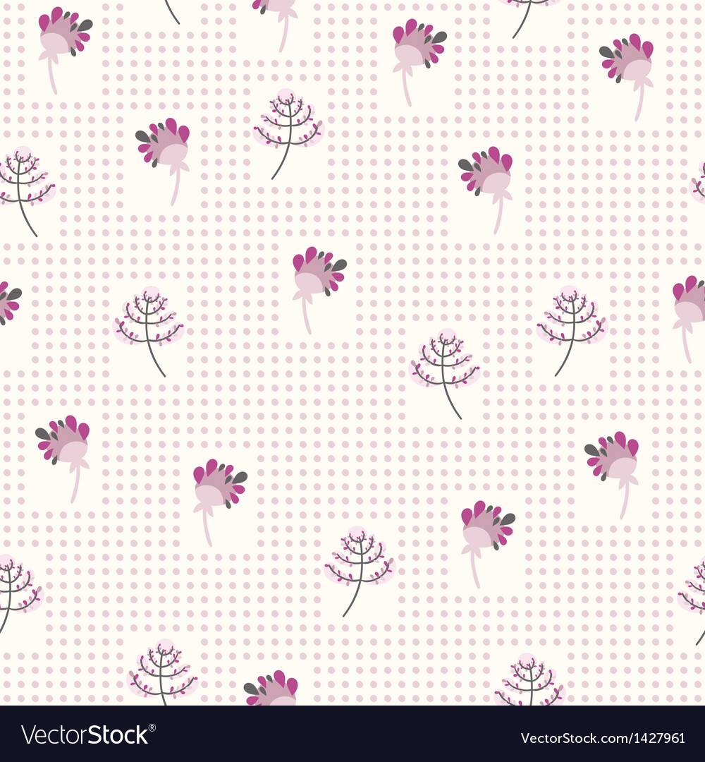 Seamless pattern with the gentle flowers
