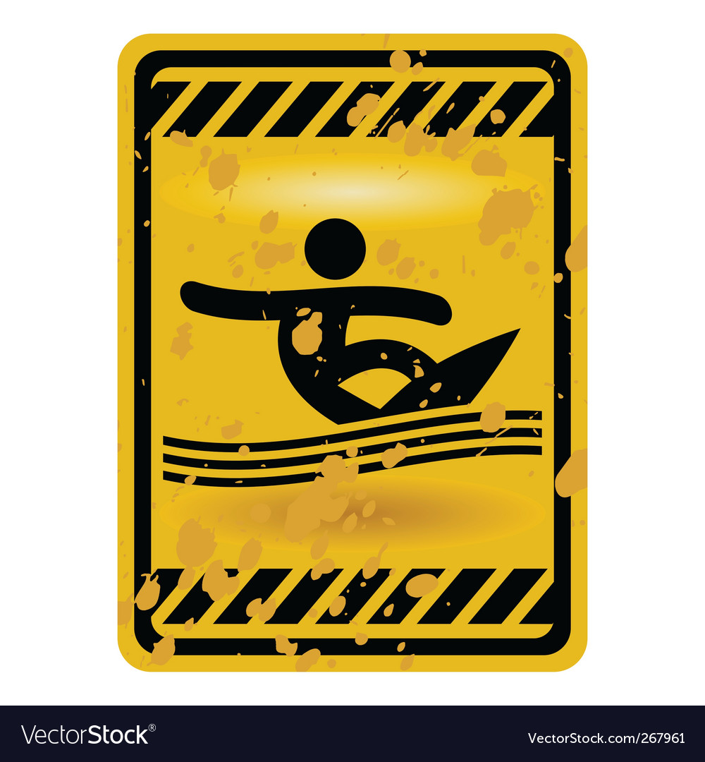 Surf area sign vector image