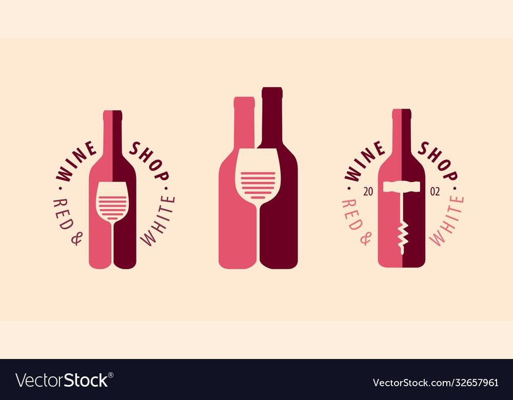 Wine symbol logo winery restaurant drink