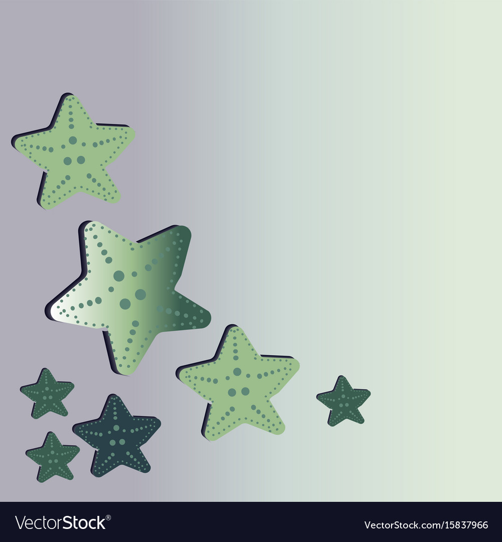 A beautiful green starfish washes ashore vector image