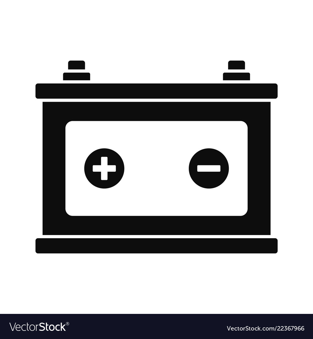 car battery icon simple style royalty free vector image vectorstock