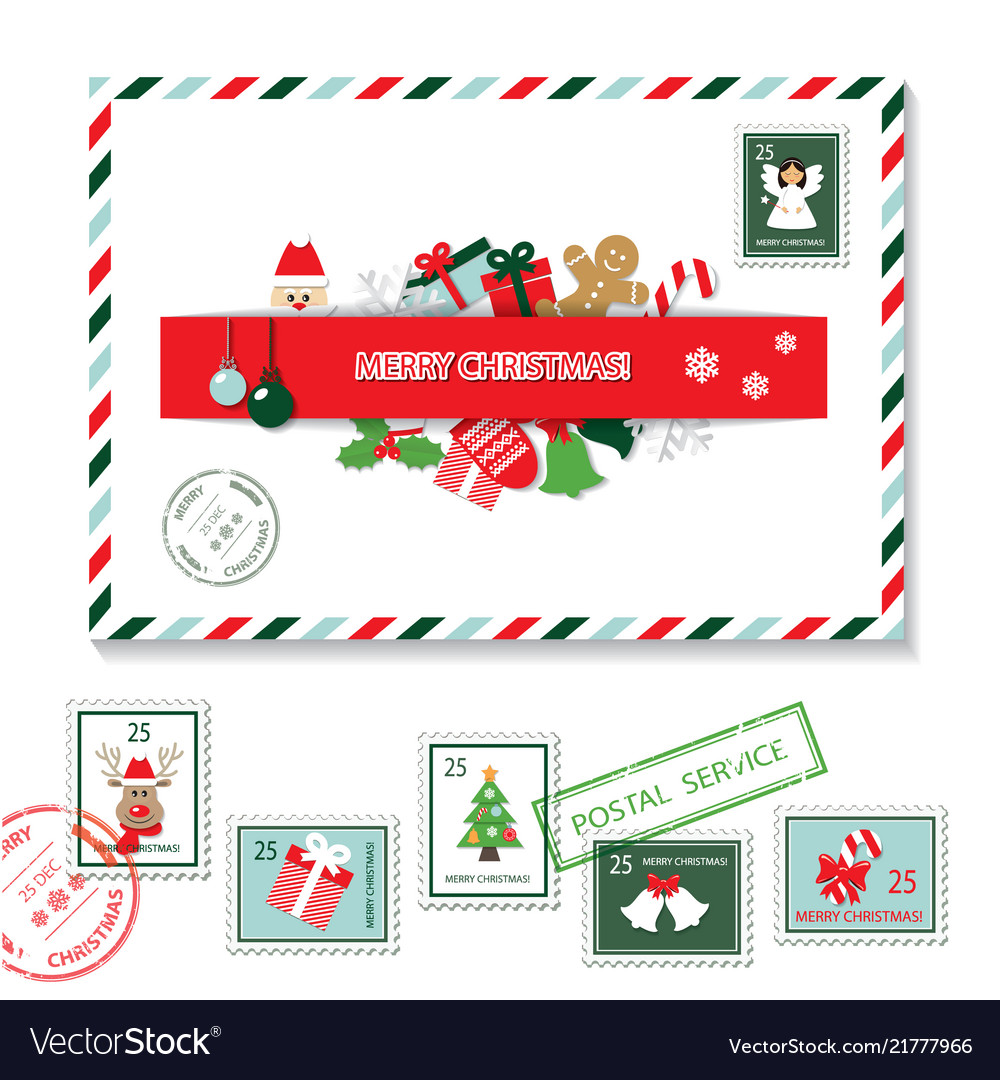 Christmas seamless pattern set Royalty Free Vector Image