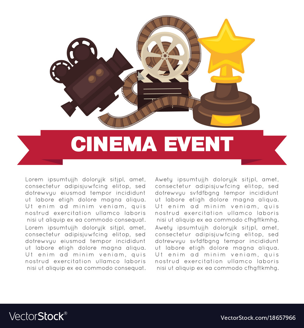 Cinema event promotional poster template with