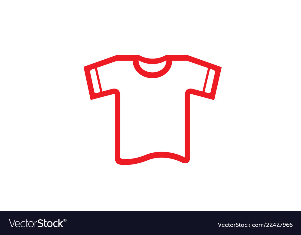 Creative red tshirt logo