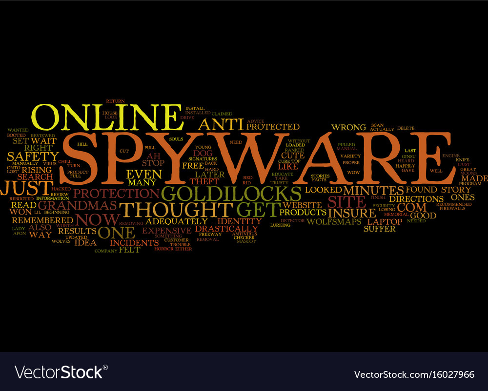 Goldilocks and the three anti spyware products vector image