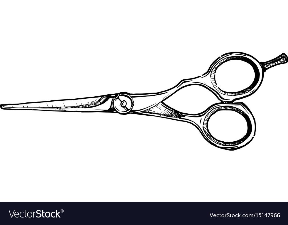 Hair Cutting Scissors Vector 2