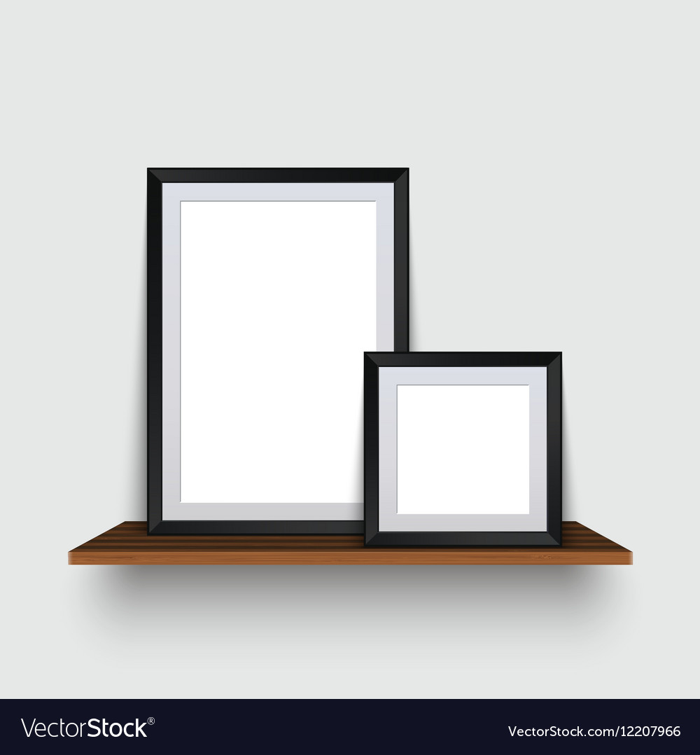 Modern two empty frames standing on a Royalty Free Vector