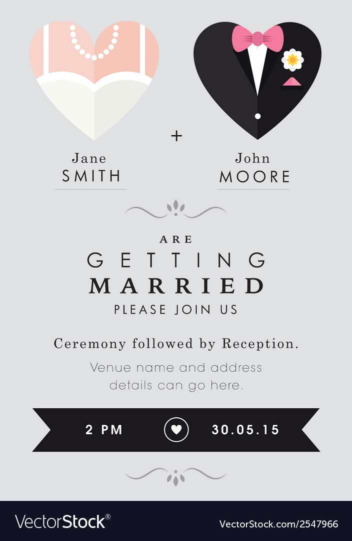 wedding invitation heart theme royalty free vector image