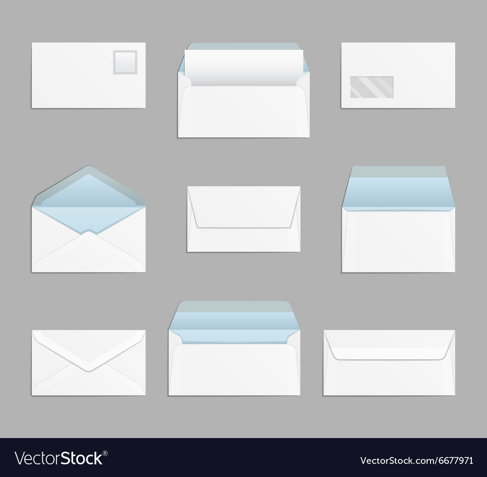 Closed and open envelopes set