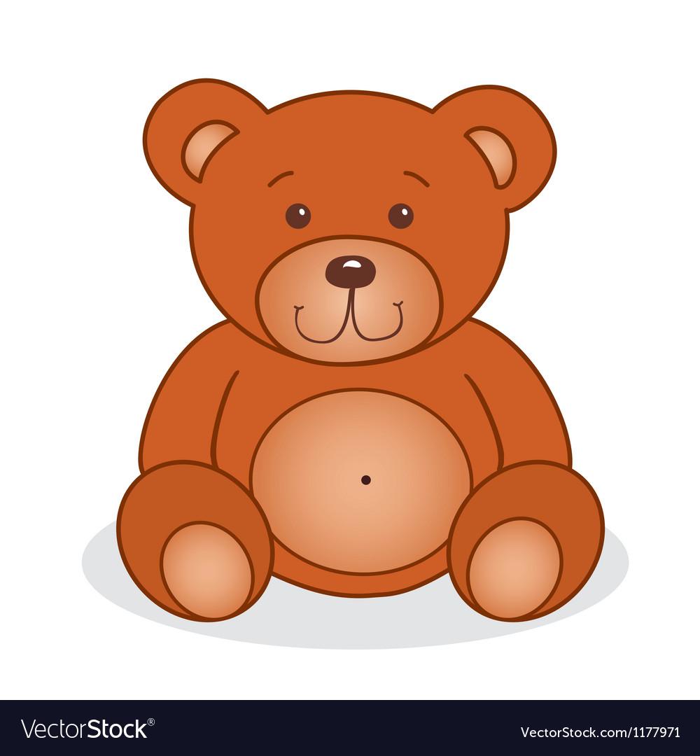 cute teddy bear royalty free vector image vectorstock