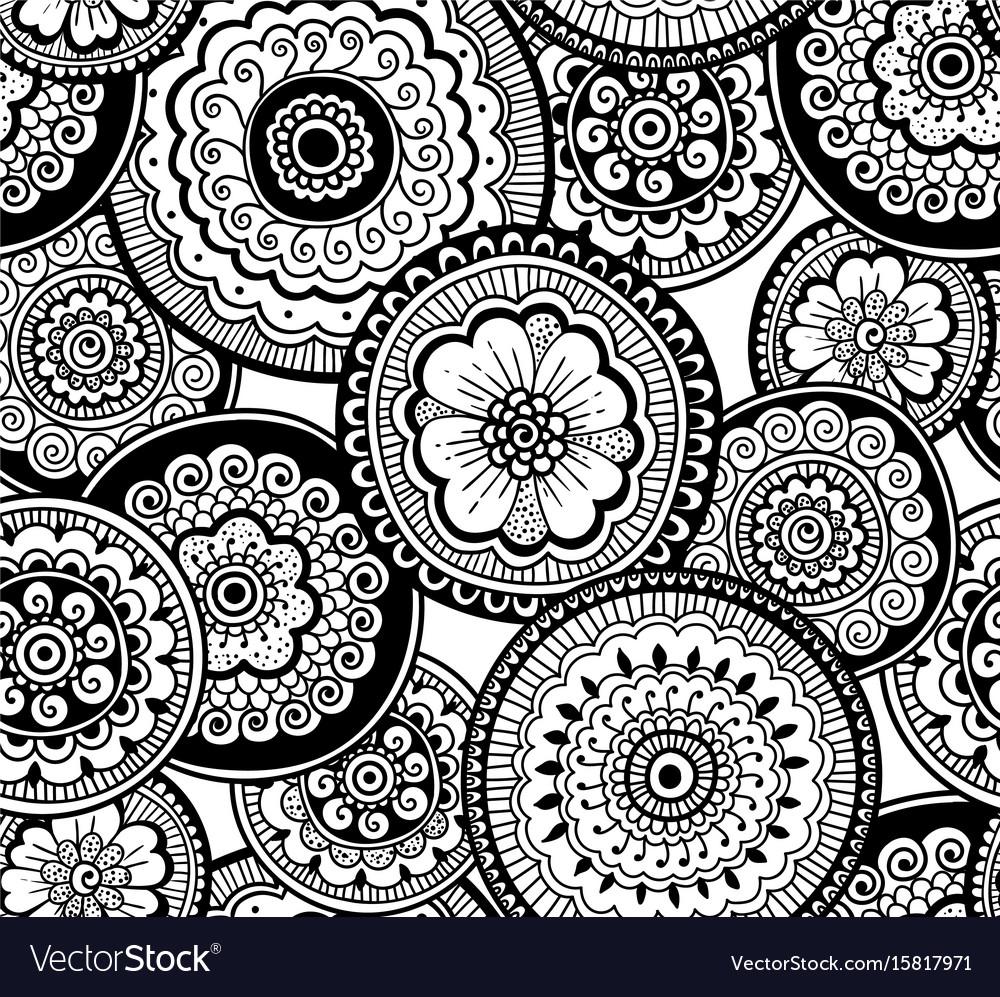 Ethnic indian pattern nature seamless pattern