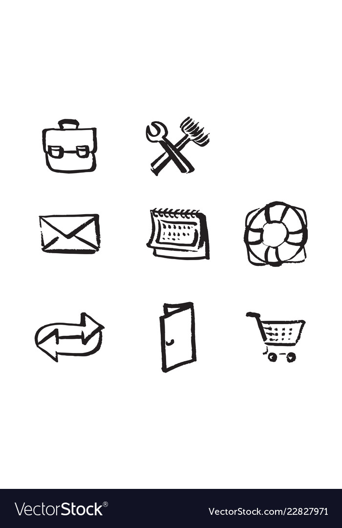Hand drawn icons for website