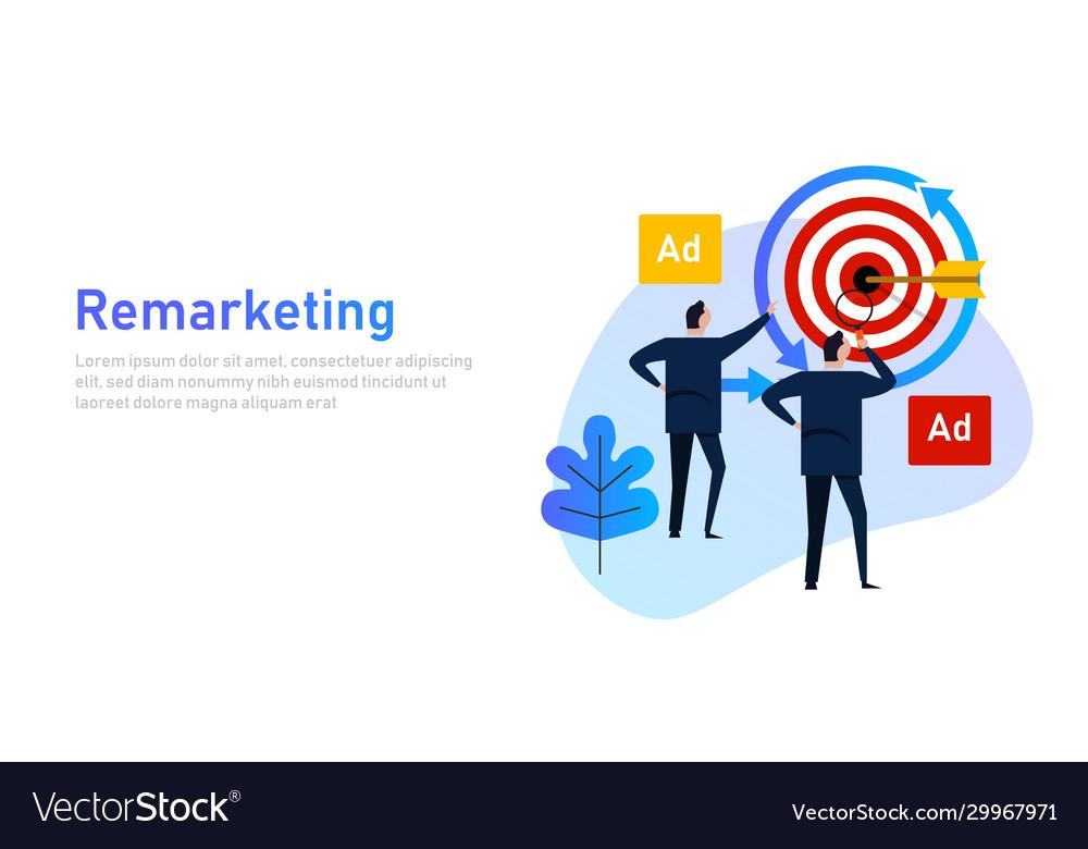 Remarketing retargeting businessman target