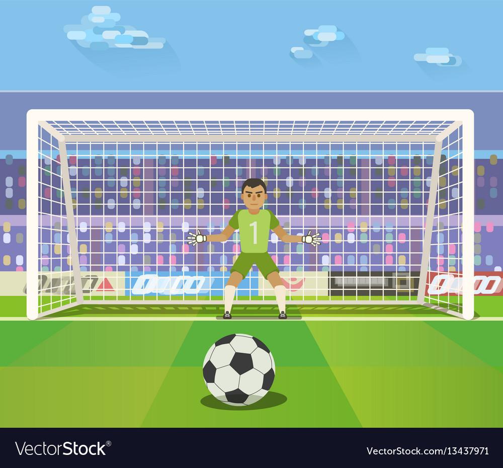 Soccer goalkeeper of a vector image