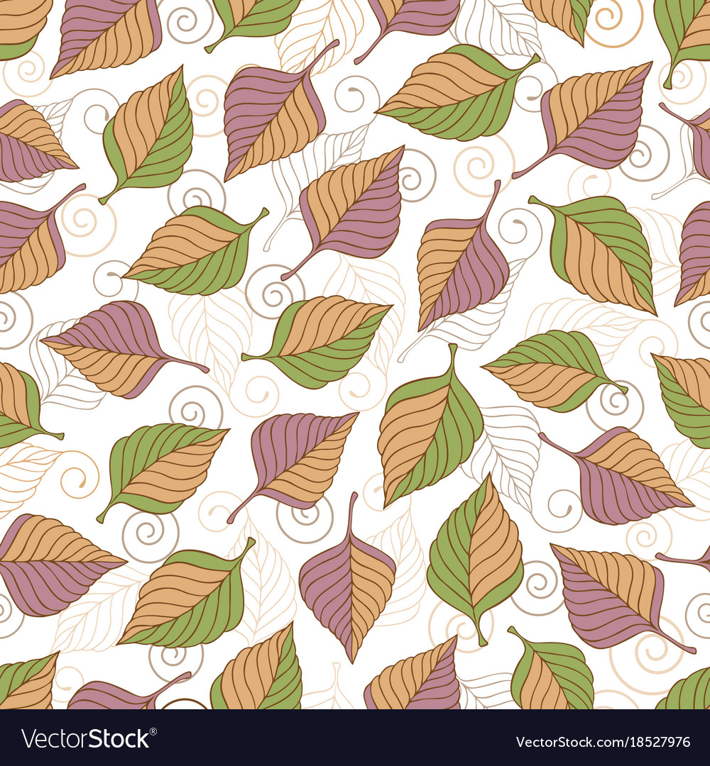 Aut leaves collect-02 vector image