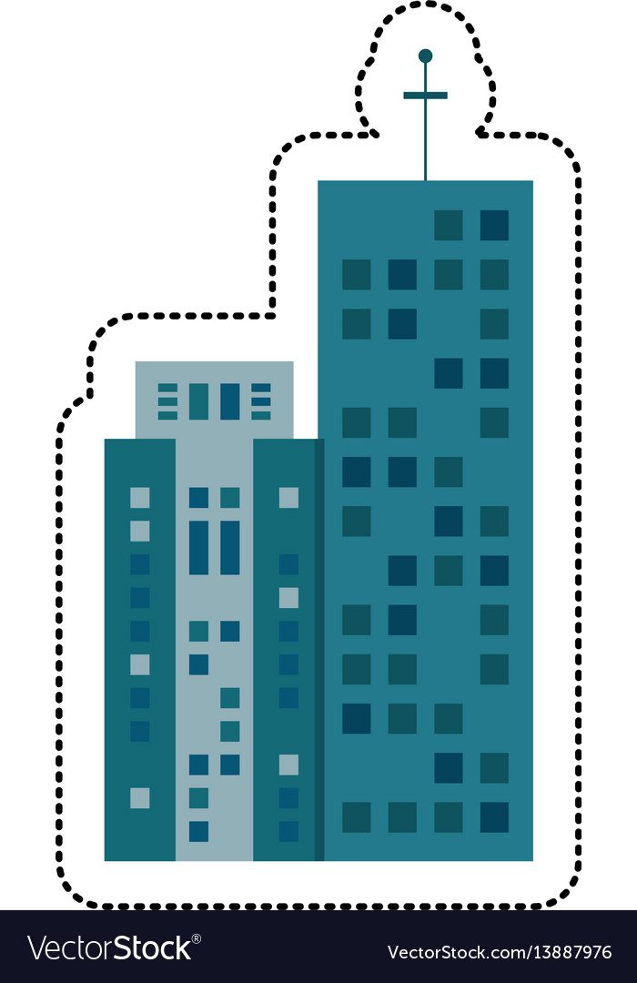 Building architecture real estate vector image