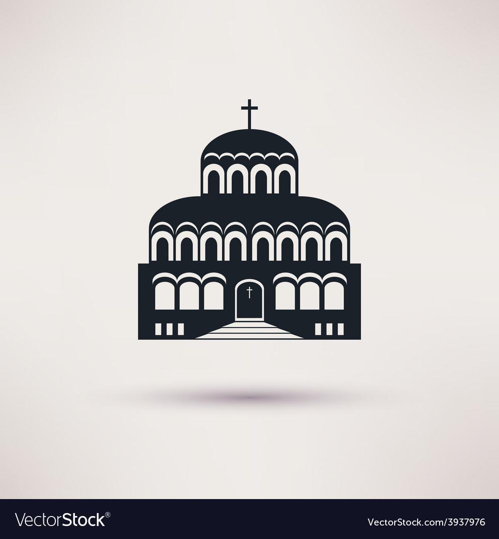 Church building a religious symbol icon vector image