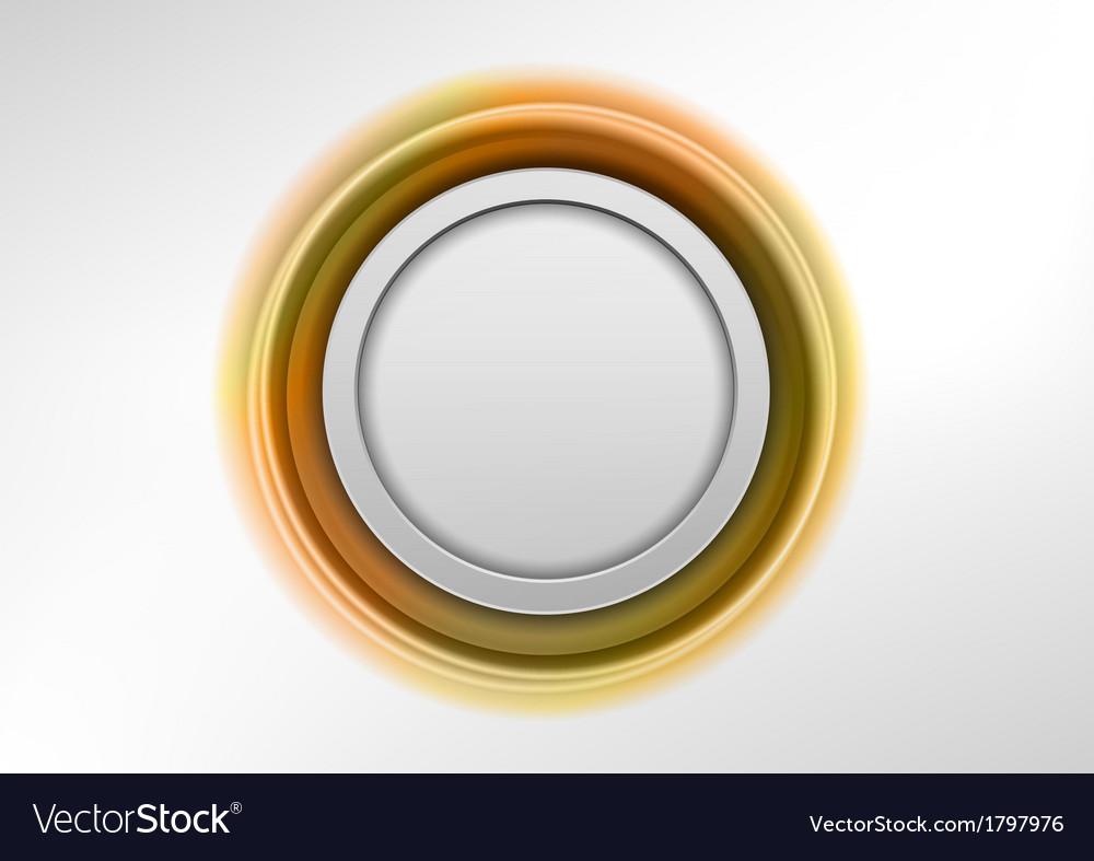 Circle gold vector image