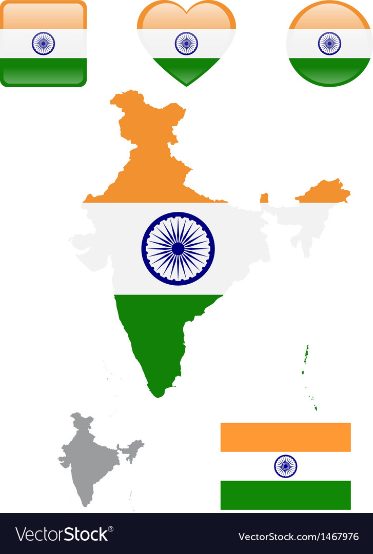 Indian Flag and icons